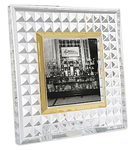 WATERFORD Rebel lead crystal photo frame