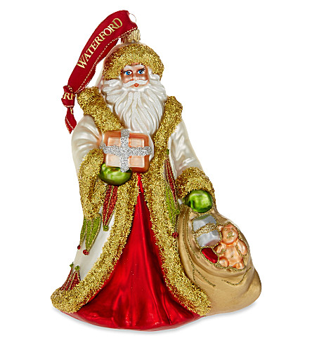 WATERFORD Special delivery glass Santa ornament