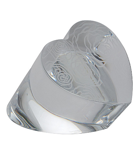 WATERFORD Heart-shaped paperweight 7.5cm