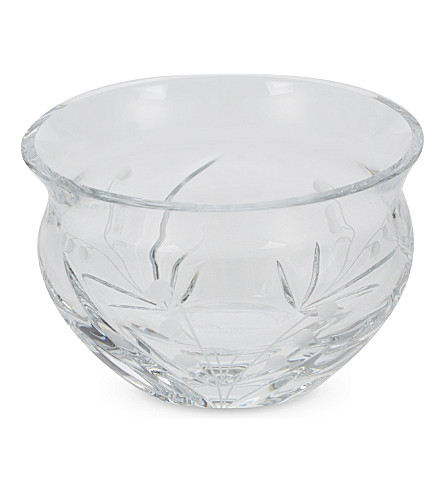 WATERFORD Lily of the valley crystal glass bowl