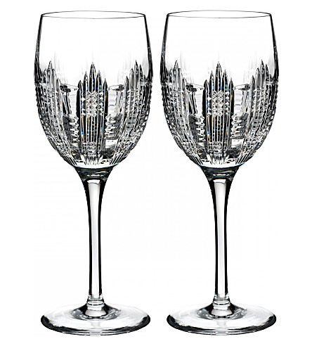 Waterford dungarvan set of two wine glasses - Waterford colored wine glasses ...