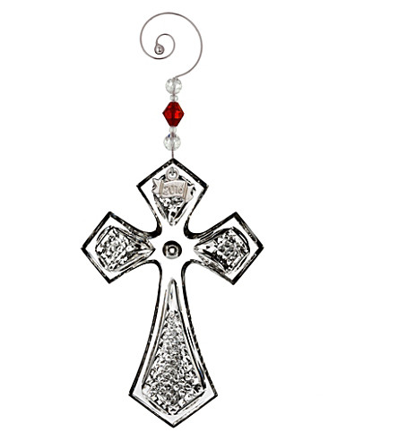 WATERFORD Cross crystal ornament