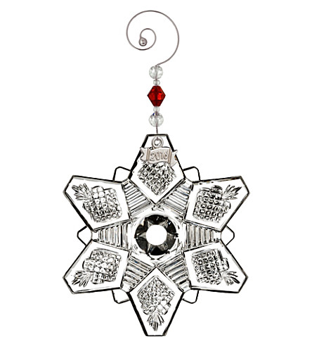 WATERFORD Snpwflake crystal ornament