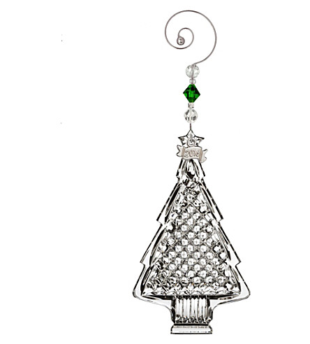WATERFORD Christmas tree crystal decoration