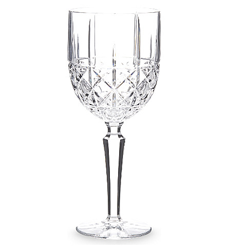 WATERFORD Marquis Brady crystalline wine glass set of 4