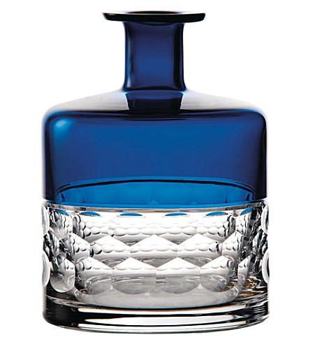 WATERFORD Half & half azure vase