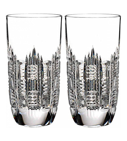 WATERFORD Dungarvan hi ball glasses set of 2