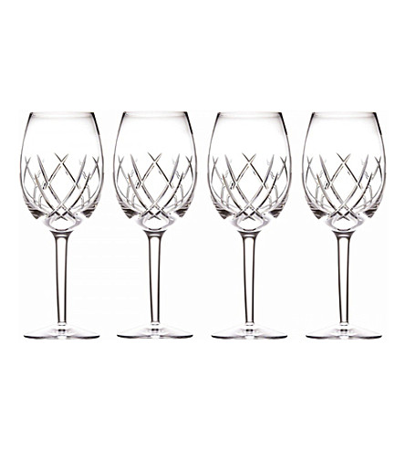 JOHN ROCHA @ WATERFORD Seda set of 4 crystal goblets