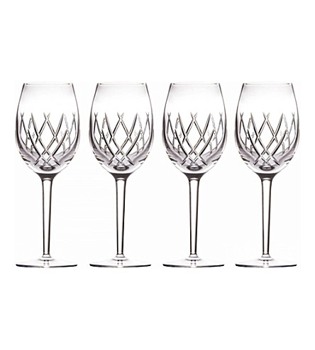 JOHN ROCHA @ WATERFORD Seda set of four crystal wine glasses