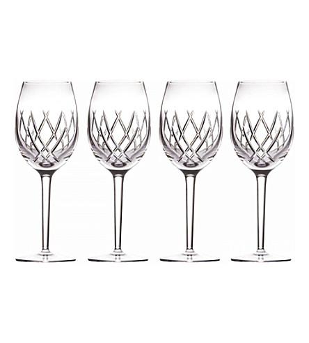 JOHN ROCHA @ WATERFORD Seda 设置的四个水晶葡萄酒杯