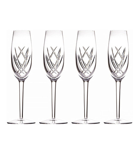 JOHN ROCHA @ WATERFORD Seda set of four crystal flutes