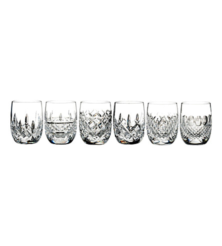 WATERFORD Lismore Connoisseur Heritage rounded tumblers (set of 6)