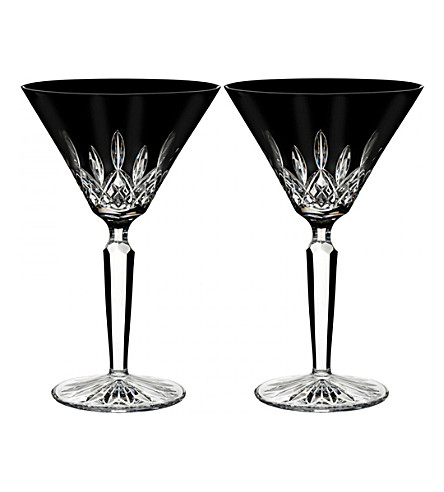 WATERFORD Lismore Black martini glasses (set of 2)