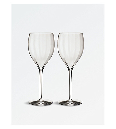 WATERFORD Elegance Optic Sauvignon crystal wine glasses set of two