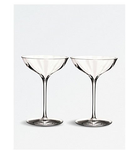 WATERFORD Elegance Optic Belle Coupe champagne glasses set of two