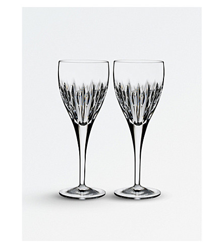 WATERFORD Set of two Arden Mara crystal wine glasses