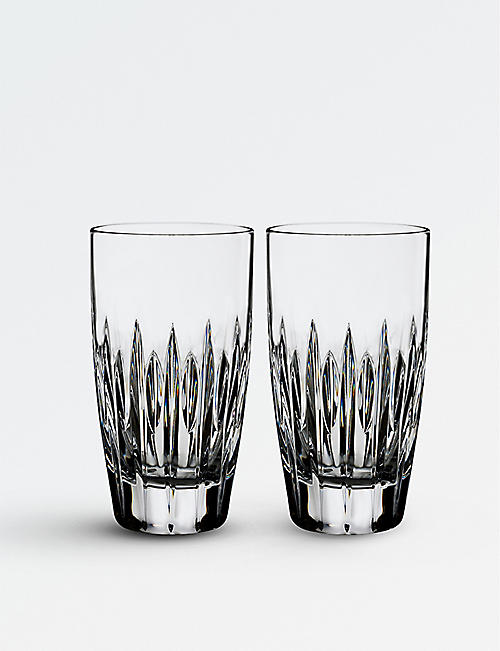WATERFORD Set of two Arden Mara crystal high ball glasses