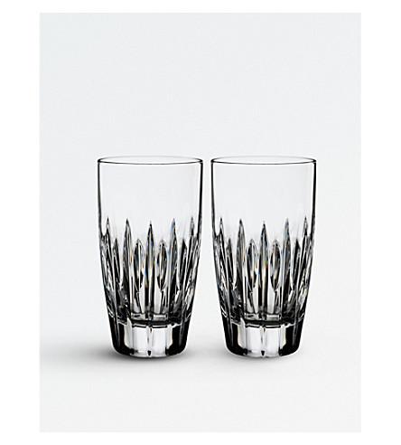 WATERFORD 集两个阿登水晶高帮球眼镜