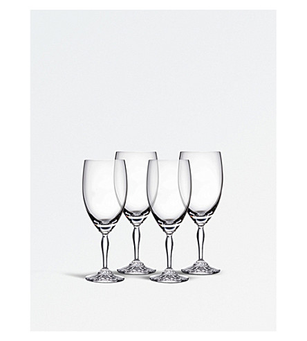 WATERFORD Set of four Ventura crystal iced beverage glasses