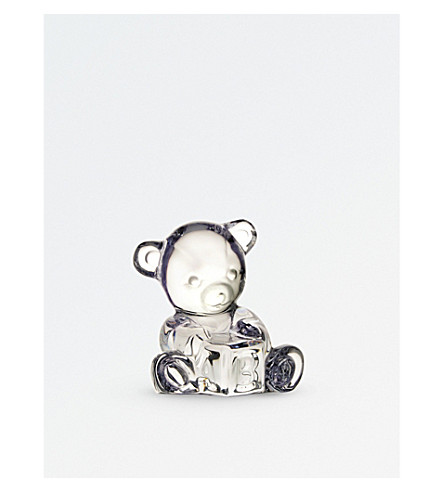 WATERFORD Bear with ABC block figurine