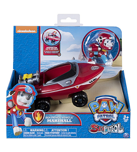 PAW PATROL Sea Patrol vehicles