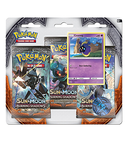POCKET MONEY Pokemon TCG Sun & Moon Burning Shadows trading card booster triple pack