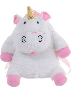 MINIONS Despicable me fluffy unicorn backpack