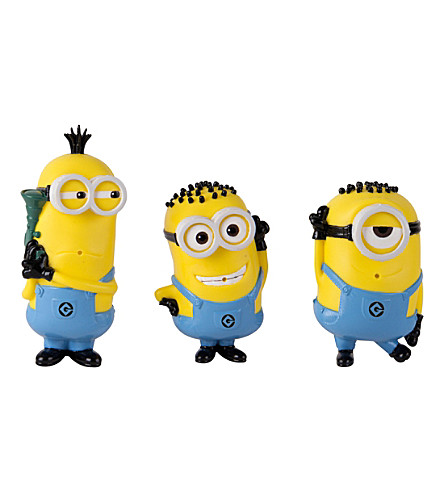 DESPICABLE ME Pack of 3 bath figures