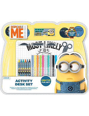 MINIONS Despicable Me activity desk set