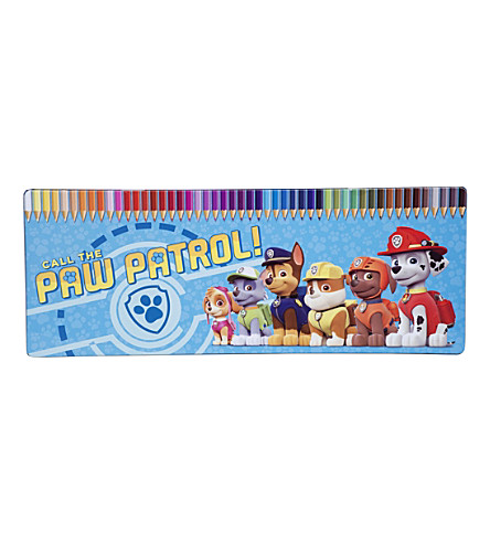 PAW PATROL Colouring pencils tin set of 50