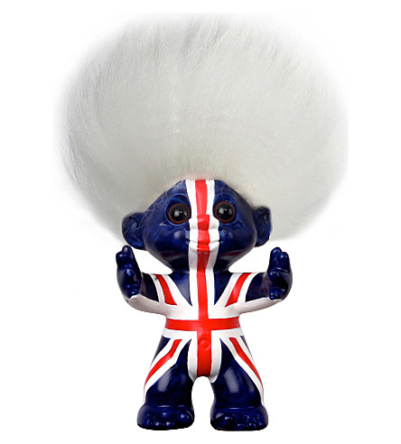 POCKET MONEY Union Jack Trolls figurine 9cm