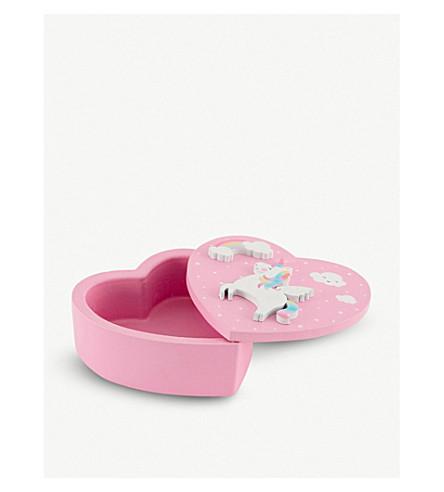 UNICORN UNIVERSE Sass & Belle Rainbow Unicorn wooden jewellery box