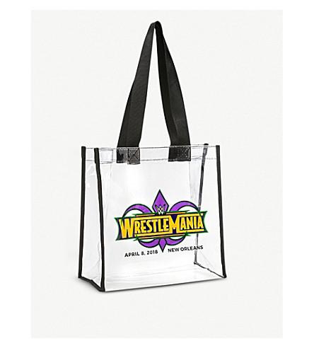WWE Wrestlemania 34 logo clear tote bag