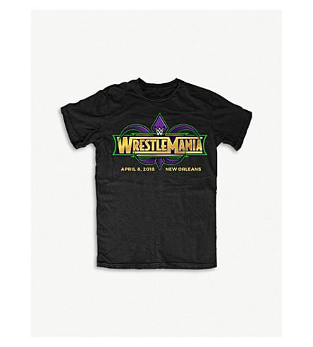 WWE Wrestlemania 34 logo-print cotton T-shirt large