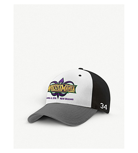WWE Wrestlemania 34 cotton-twill baseball cap