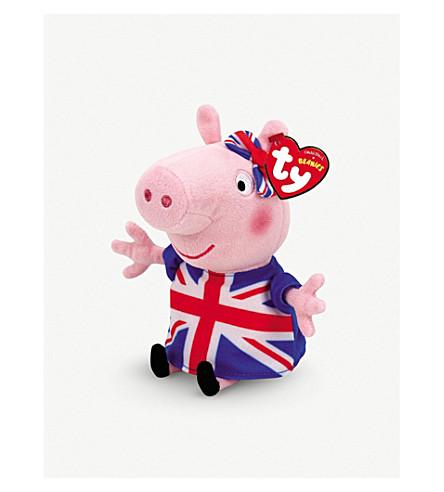 PEPPA PIG TY Union Jack Peppa Pig beanie