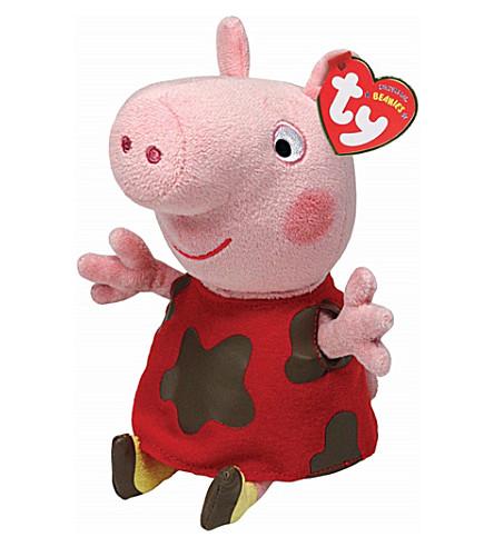 PEPPA PIG TY Muddy Puddles Peppa Pig beanie