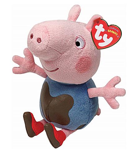 PEPPA PIG TY Muddy Puddles George Pig beanie