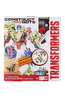 TRANSFORMERS Optimus Prime & Gnaw Dino Dinobot Warriors