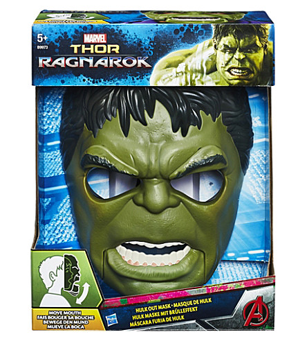 MARVEL AVENGERS Thor Ragnarok Hulk out mask