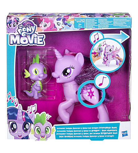 MY LITTLE PONY My Little Pony Princess Twilight Sparkle and Spike The Dragon Friendship Duet toy figures