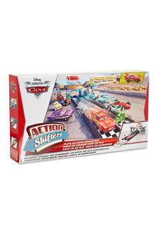 CARS Cars Action Shifters-Flo's V8 cafe dragstrip playset