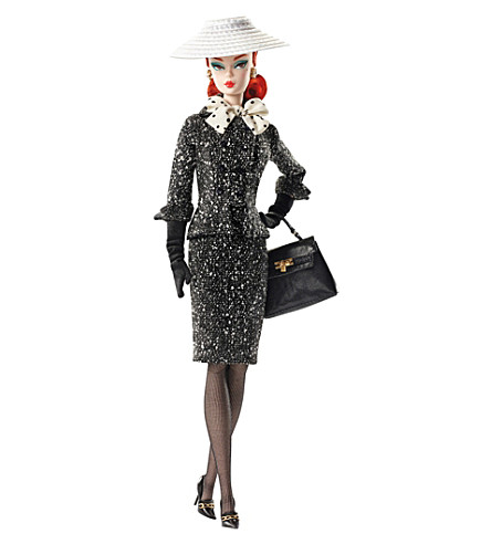 BARBIE Black & White collection tweed suit doll