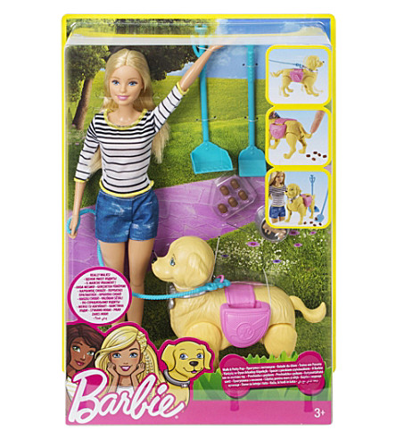 BARBIE Walk and Potty Pup set