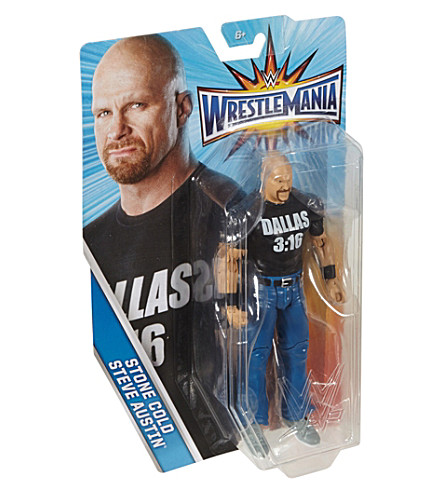 WWE Wrestlemania Stone Cold Steve Austin action figure