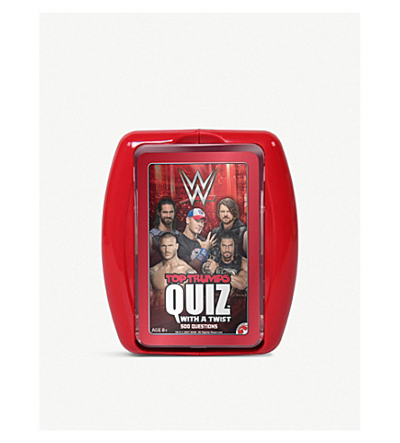 WWE Top Trumps Quiz card game