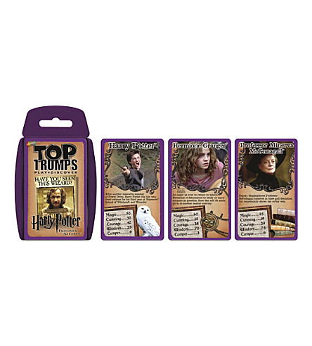 POCKET MONEY Top Trumps Harry Potter Prisoner of Azkaban card game