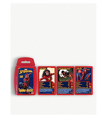 POCKET MONEY Spiderman top trumps cards