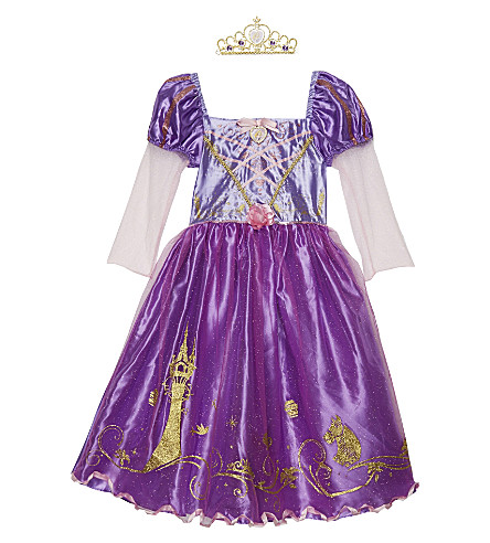DISNEY PRINCESS Rapunzel costume and tiara 3-8 years (Purple