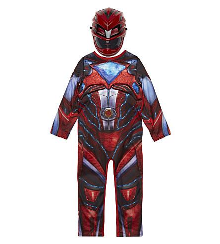 POWER RANGERS Power Rangers deluxe child's costume 3-8 years (Red